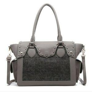 GORGEOUS Gray Large Satchel Bag/Purse